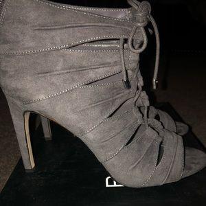 Gray open toe sandals